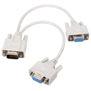 Cable Video Splitter en Y para Monitores VGA/SVGA