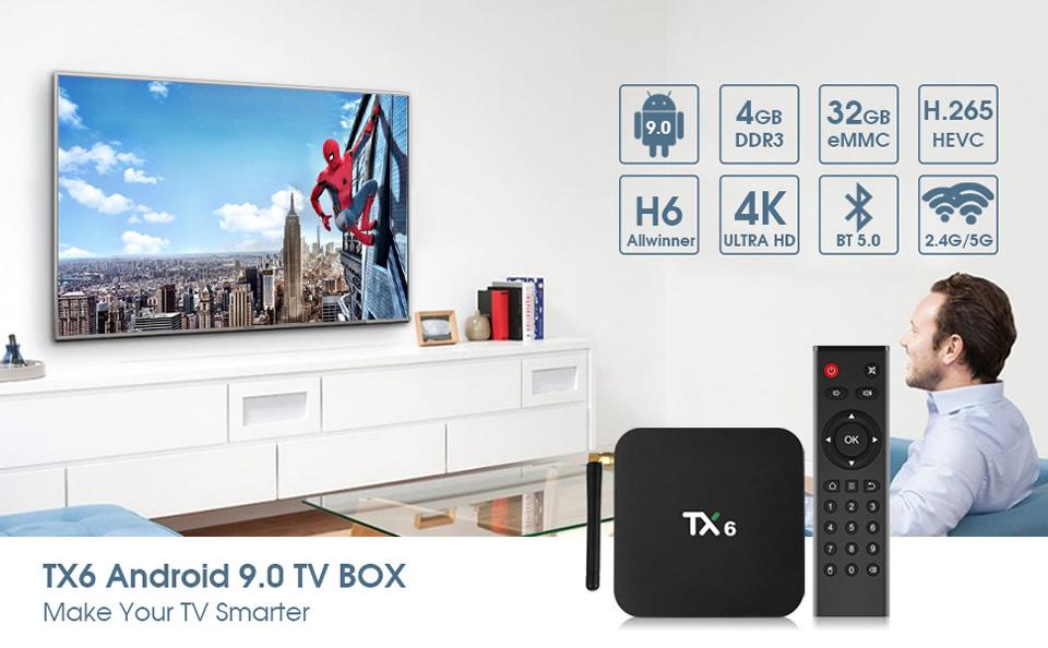 Android 9.0 TV Box TX6
