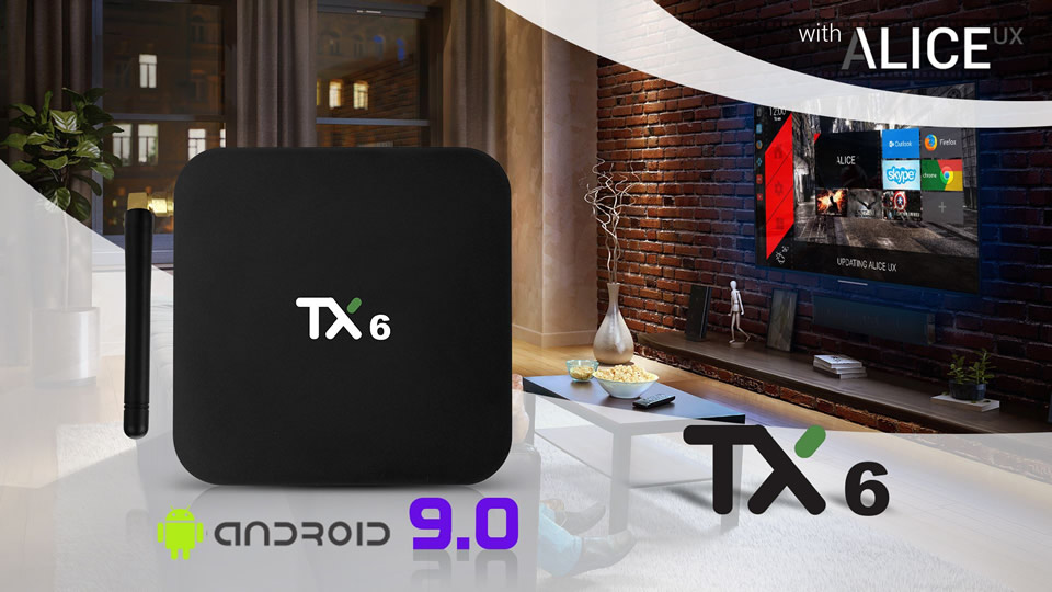 Pendoo TX6 TV Box con Android 9.0