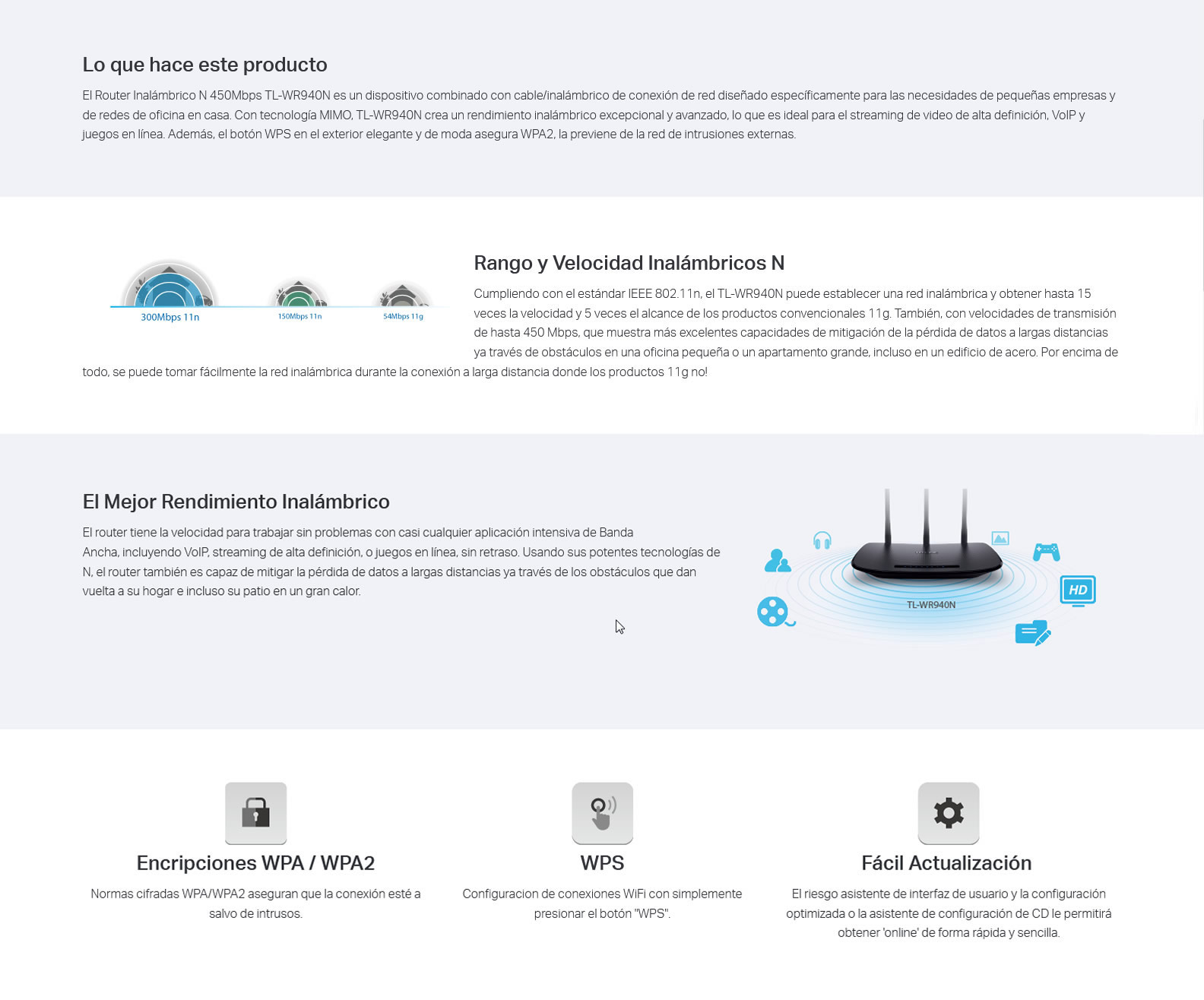 TL-WR940N Router Inalámbrico 450Mbps